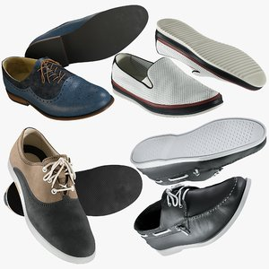 realistic shoes 39 collections 3D model