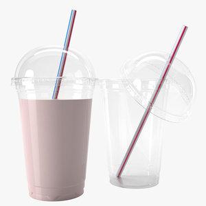 3D plastic cup 400ml