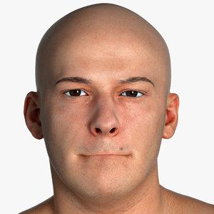 real pbr marcus human head model