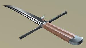 3D historical sword model