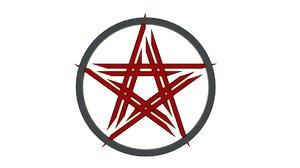 3D penta pentagram