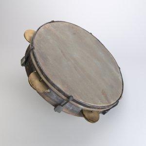 tambourine modelled 3D model