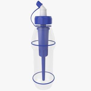 3D model plastic sports water bottle