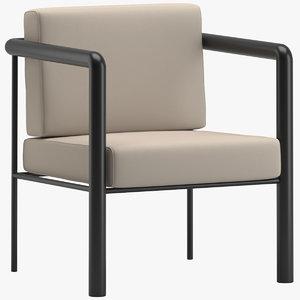 bespoke winter garden chair 3D model