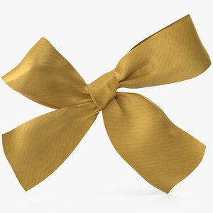 gold bow v 3 3D model