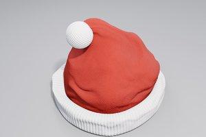 christmas santa claus hat 3D model