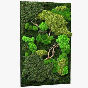 indoor plantscape moss wall 3D model