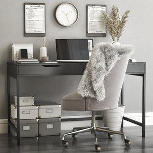 3D office desk chair model