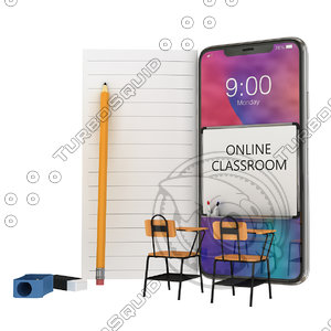 online classroom 3D model