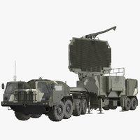 MAZ 74106 with 64N6 Big Bird Radar Camouflage Rigged