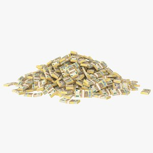 200 euro bill stack model