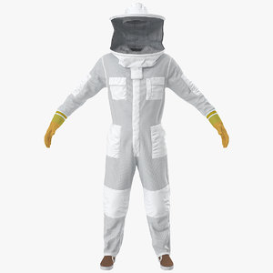 3D body bee protection suit