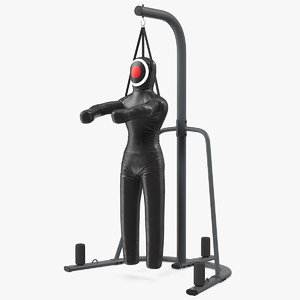 leather grappling dummy stand 3D model
