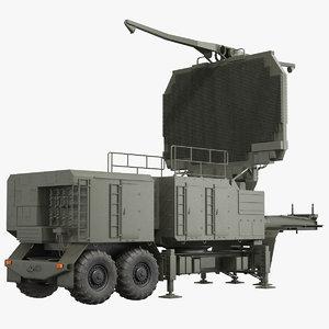 long range radar tombstone 3D model