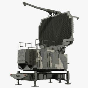 tombstone 64n6 camouflage radar 3D model