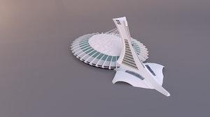 3D model olympic stadium montreal