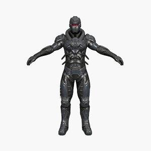 3D light warrior model