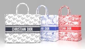 3D christian dior bag book