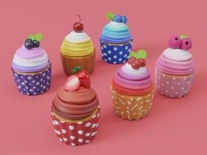 cupcake cute 3D
