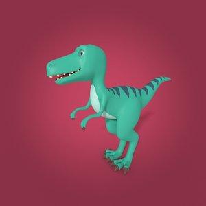 3D model dinosaur cartoon