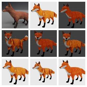 3D fox red
