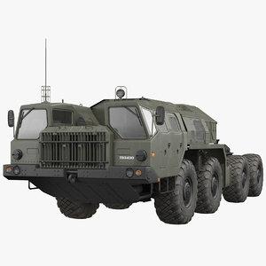 maz 7910 8x8 truck 3D model