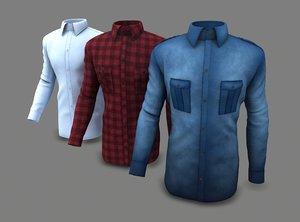 3D 3 men shirt