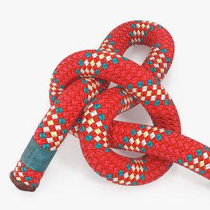 slip knot red rope 3D model