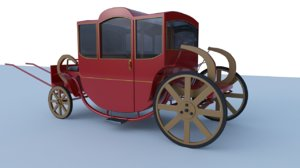 wagon carriage 3D
