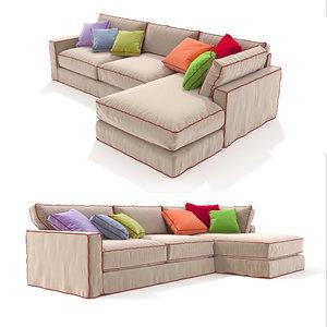 sofa long island corner 3D