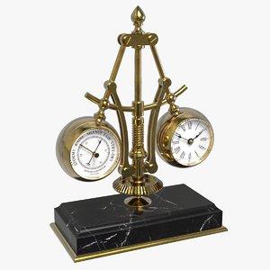 3D industrial centrifugal clock model