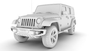 3D jeep wrangler suvs