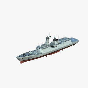 type054ap frigate model