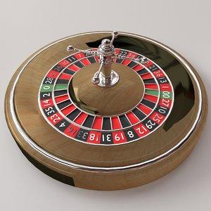 3D roulette wheel model