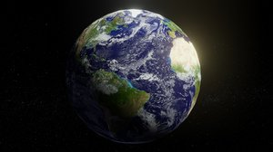 photorealistic earth 2k 3D model