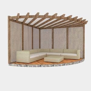 3D garden camellia 01 model