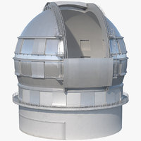 Astronomical Observatory Dome Rigged