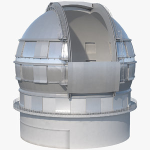 astronomical observatory dome rigged 3D