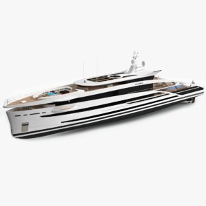 maximus luxury yacht dynamic 3D model