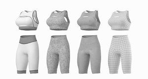 woman sportswear base mesh 3D