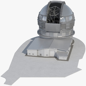 gran tecan reflecting telescope 3D model