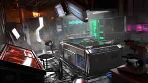 laboratory futuristic 3D