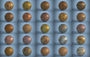 Pack of 25 Seamless Rusty Metal Surfaces PBR Volume 2