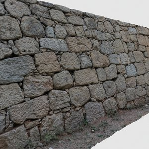 3D scan stone wall model