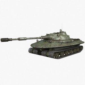 3D model tank object 279 green