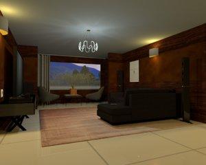 3D apartment plan house model