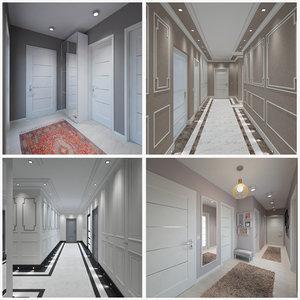 corridor entrance 4 3D model