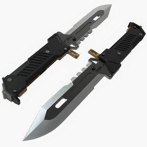 3D military knife 1 model