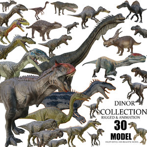 3D dinosaur collection3 rigged animation