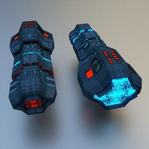 3D spaceship motor